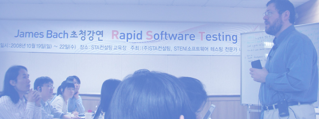 James Bach teaches Rapid Software Testing